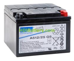 Batería plomo sellada gel Sonnenschein A512/25 G5 12V 25Ah