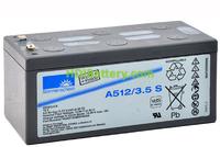 Batería plomo sellada gel Sonnenschein A512/3.5S 12V 3.5Ah