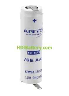 Batería recargable AA-RC6 Ni-Cd ARTS SAFT