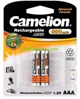 Batería recargable Cilíndrica AAA DECT 800mAh 2 Unidades