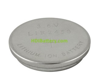 Batería recargable Li-Ion 3,6V 120mAh LIR2450