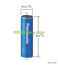 Batería recargable NI-MH Panasonic 1.2V 1580mAh BK1500AA