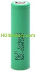 Bateria recargable Samsung INR18650-25R Li-Ion 3.7V 2500mAh 20A