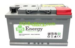 Batería Solar PFS Energy 12v 80Ah AGM L4