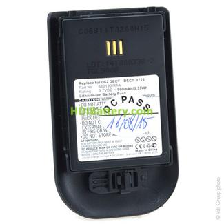 Batería teléfono fijo 3.7V 900mAh Alcatel Omnitouch,DECT Litio