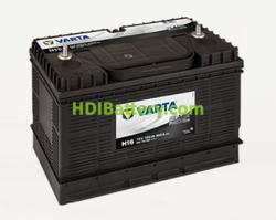 Batería Varta 12 voltios 105 ah 800A Promotive Black ref. H16 330 x 172 x 240 mm