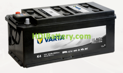 Batería Varta 12 voltios 143 ah 950A Promotive Black ref. K4 514 x 218 x 210 mm