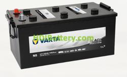 Batería Varta 12 voltios 220 ah 1150A Promotive Black ref. N5 518 x 276 x 242 mm