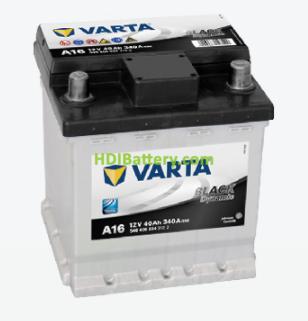 Batería Varta 12 voltios 40 ah 340A Black Dynamic ref. A16 175 x 175 x 190 mm