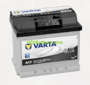 Batería Varta 12 voltios 41 ah 360A Black Dynamic ref. A17 207 x 175 x 175 mm