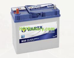 Batería Varta 12 voltios 45 ah 330A Blue Dynamic ref. B33 238 x 129 x 227 mm