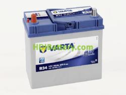 Batería Varta 12 voltios 45 ah 330A Blue Dynamic ref. B34 238 x 129 x 227 mm