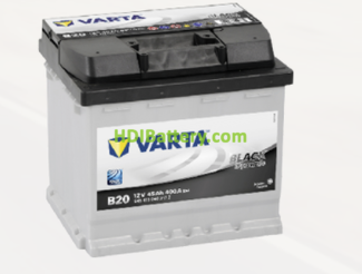 Batería Varta 12 voltios 45 ah 400A Black Dynamic ref. B20 207 x 175 x 190 mm