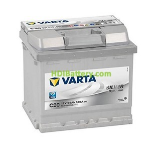 Batería Varta 12 voltios 54Ah 530A silver Dynamic Ref: C30 207 x 175 x 190 mm