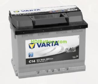Batería Varta 12 voltios 56 ah 480A Black Dynamic ref. C14 242 x 175 x 190 mm