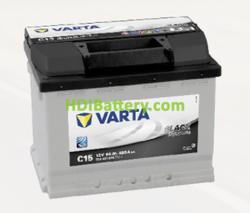 Batería Varta 12 voltios 56 ah 480A Black Dynamic ref. C15 242 x 175 x 190 mm
