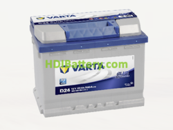 Batería Varta 12 voltios 60 ah 540A Blue Dynamic ref. D24 242 x 175 x 190 mm