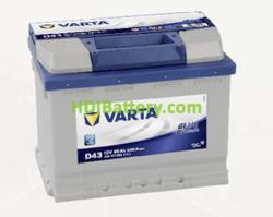 Batería Varta 12 voltios 60 ah 540A Blue Dynamic ref. D43 242 x 175 x 190 mm