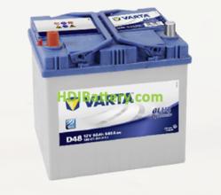 Batería Varta 12 voltios 60 ah 540A Blue Dynamic ref. D48 232 x 173 x 225 mm