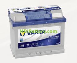 Batería Varta 12 voltios 60 ah 560A Blue Dynamic EFB ref. D53 242 x 175 x 190 mm