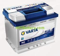 Batería Varta 12 voltios 60 Amperios 640A Blue Dynamic EFB Ref. N60 242 x 175 x 190 mm