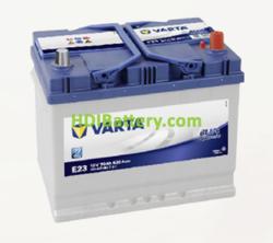 Batería Varta 12 voltios 70 ah 630A Blue Dynamic ref. E23 261 x 175 x 220 mm