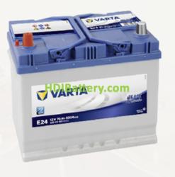Batería Varta 12 voltios 70 ah 630A Blue Dynamic ref. E24 261 x 175 x 220 mm