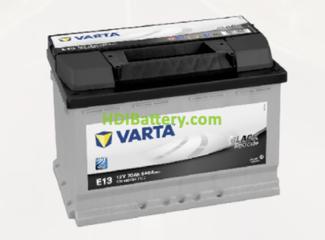 Batería Varta 12 voltios 70 ah 640A Black Dynamic ref. E13 278 x 175 x 190 mm