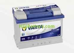 Batería Varta 12 voltios 70 ah 650A Blue Dynamic EFB ref. E45 278 x 175 x 190 mm