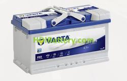 Batería Varta 12 voltios 80 ah 730A Blue Dynamic EFB ref. F22 315 x 175 x 190 mm