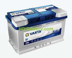 Batería Varta 12 voltios 80 Amperios 800A Blue Dynamic EFB Ref. N80 315 x 175 x 190 mm