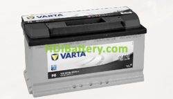Batería Varta 12 voltios 90 ah 720A Black Dynamic ref. F6 353 x 175 x 190 mm