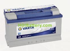 Batería Varta 12 voltios 95 ah 800A Blue Dynamic ref. G3 353 x 175 x 190 mm