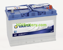 Batería Varta 12 voltios 95 ah 830A Blue Dynamic ref. G7 306 x 173 x 225 mm