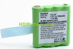 Batería walkie-talkie 4.8V 700mAh Alan HP441 Midland G6 G8 M24