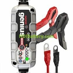 Cargador para baterías de plomo y litio ion inteligente 12v y 6v 1.1Ah Noco genius G1100