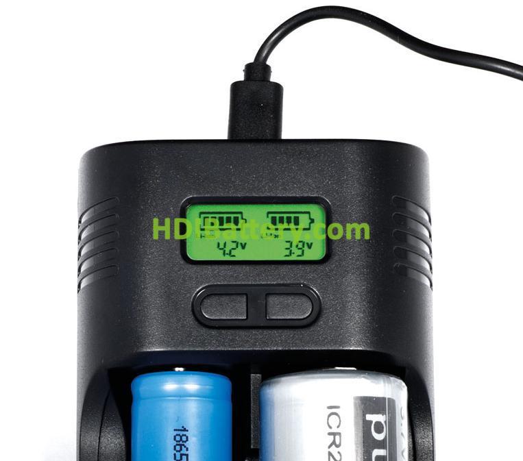 Cargador de bater as cil ndricas de ion litio ni mh hdi battery - Cargador de pilas precio ...
