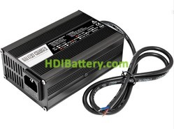 Cargador para baterías de Li-Ion y plomo 36 Voltios 5 Amperios Aluminio con ventilador