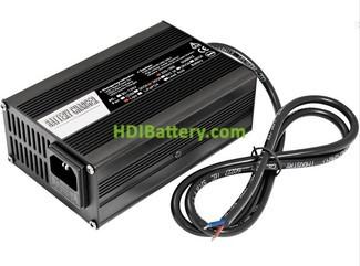 Cargador para baterías de Li-Ion y Plomo 48 Voltios 5 Amperios Aluminio con ventilador