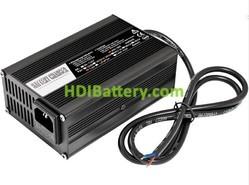 Cargador para baterías de Li-Ion y Plomo 72 Voltios 4 Amperios Aluminio con ventilador