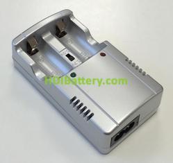 Cargador para baterias de litio CR123 3v y 3.6v LC123X2
