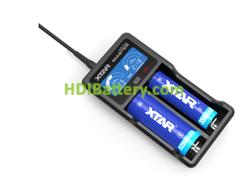 Cargador XTAR 18650 VC2 Plus LI-ION