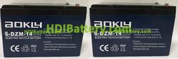 Conjunto 2 baterías AGM 24 Voltios 14 Amperios Aokly Power 151x99x98 mm