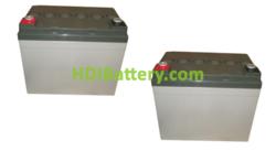 Conjunto de 2 baterías de Gel Premium Battery 12 Voltios 33 Amperios 195X130X164mm