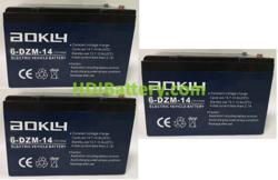 Conjunto 3 baterías AGM 36 Voltios 14 Amperios Aokly Power 151x99x98 mm