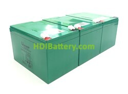 Conjunto 3 baterías Carbono-Gel 36V 18Ah 151x98x104 mm
