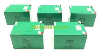 Conjunto 5 baterías Carbono-Gel 60V 18Ah 151x98x104 mm