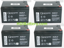 Conjunto de 4 baterías para moto eléctrica 12V 15Ah