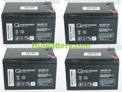 Conjunto de 4 baterías para patin eléctrico 12V 15Ah