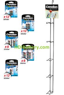 EXP082 Expositor de pilas Digi-Alcalinas Camelion 84 pilas incluidas